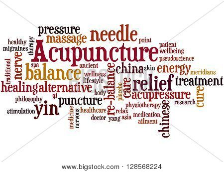 Acupuncture, Word Cloud Concept 3