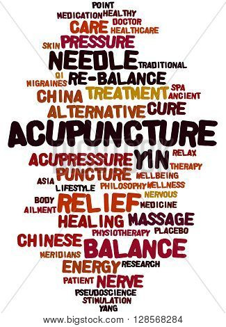 Acupuncture, Word Cloud Concept 7
