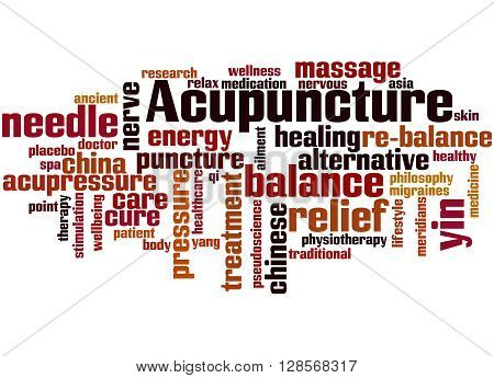 Acupuncture, Word Cloud Concept 9