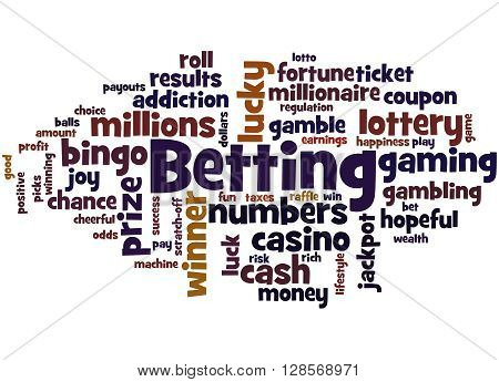 Betting, Word Cloud Concept 5