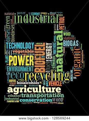 Biofuel Station, Word Cloud Concept
