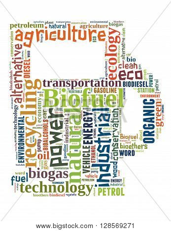 Biofuel Station, Word Cloud Concept 2