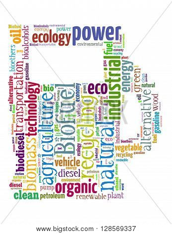 Biofuel Station, Word Cloud Concept 6