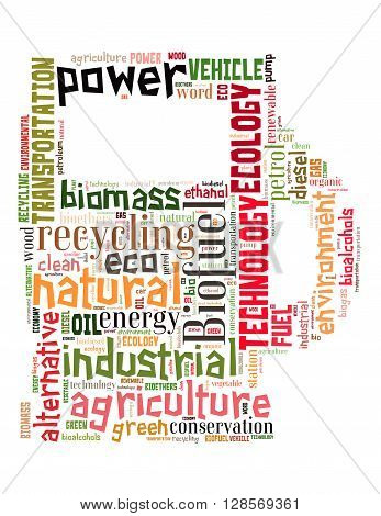 Biofuel Station, Word Cloud Concept 7