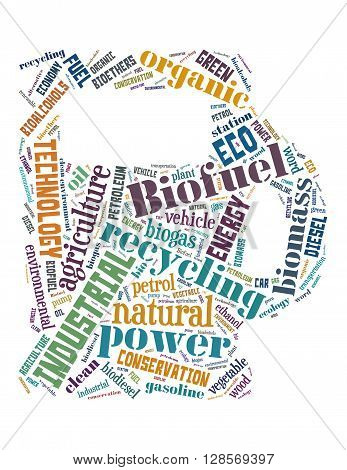 Biofuel Station, Word Cloud Concept 8