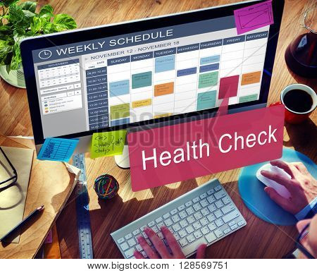 Health Check Care Medical Issues Physical Treatment Concept