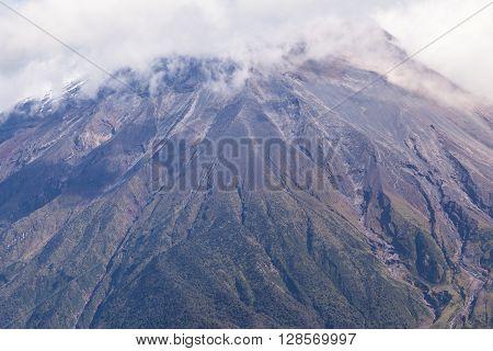 Powerful Day Explosion Of Tungurahua South America