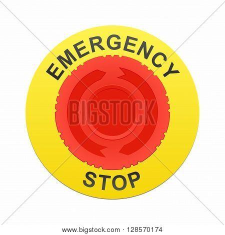 Emergency stop button, immediate machine shutdown in case of emergency