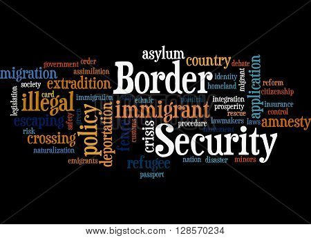 Border Security, Word Cloud Concept 8