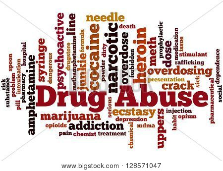 Drug Abuse, Word Cloud Concept 3