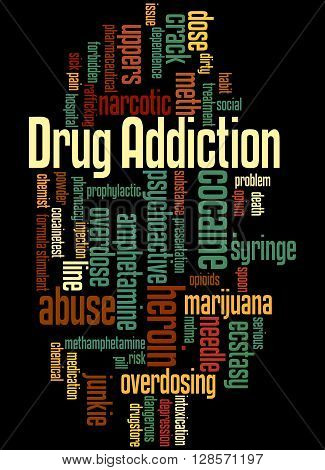 Drug Addiction, Word Cloud Concept 6