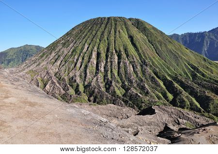 View of Mount Batok in Bromo Tengger Semeru national park East java Indonesia.