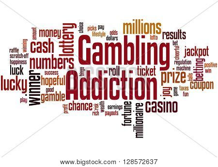 Gambling Addiction, Word Cloud Concept