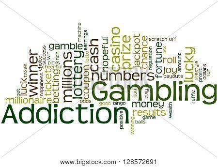 Gambling Addiction, Word Cloud Concept 3