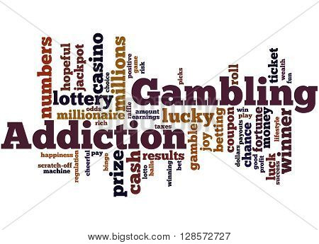Gambling Addiction, Word Cloud Concept 5