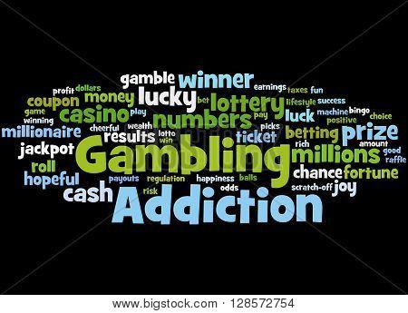 Gambling Addiction, Word Cloud Concept 7
