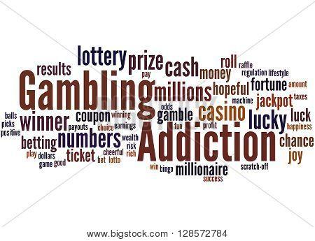 Gambling Addiction, Word Cloud Concept 9