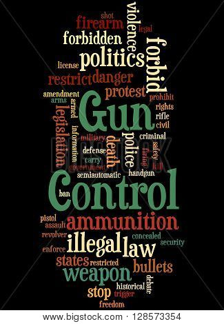 Gun Control, Word Cloud Concept