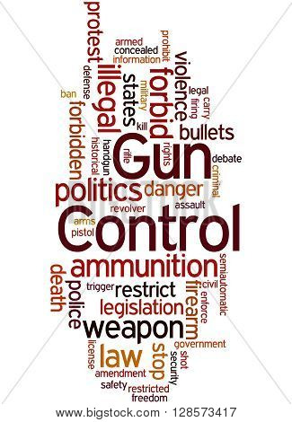 Gun Control, Word Cloud Concept 4