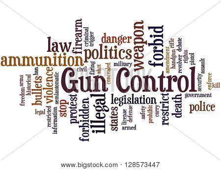 Gun Control, Word Cloud Concept 6