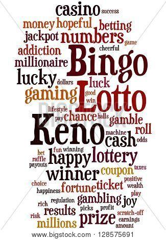 Lotto Bingo Keno, Word Cloud Concept 4