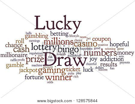 Lucky Draw, Word Cloud Concept 3