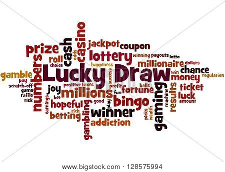 Lucky Draw, Word Cloud Concept 8