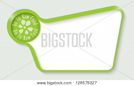 Vector abstract double box for your text and raw food icon