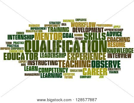 Qualification, Word Cloud Concept 3
