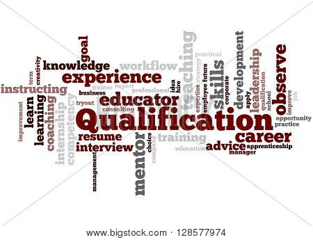 Qualification, Word Cloud Concept 7