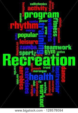 Recreation, Word Cloud Concept 7