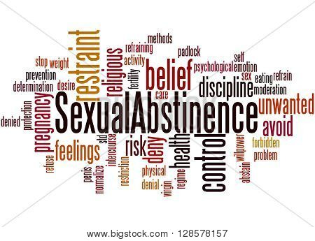 Sexual Abstinence, Word Cloud Concept 2