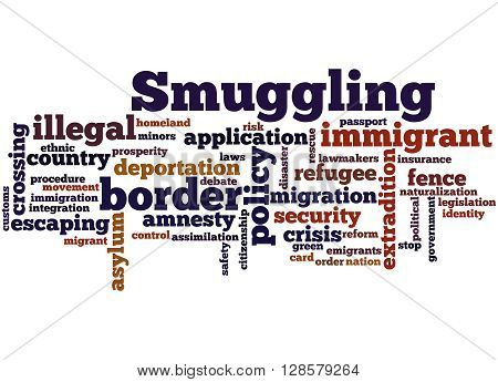 Smuggling, Word Cloud Concept 6
