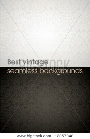 Seamless wallpaper pattern, black, white