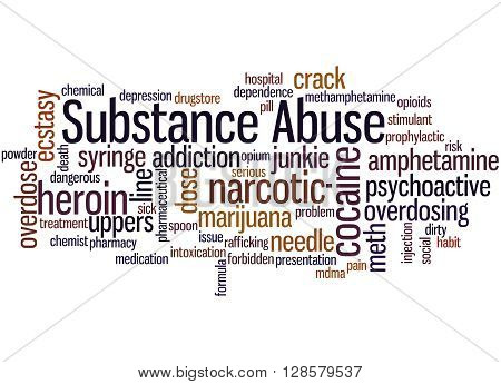 Substance Abuse, Word Cloud Concept 8