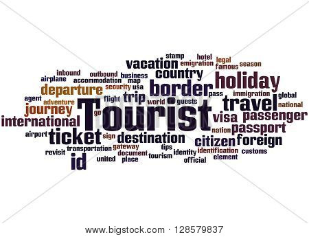 Tourist, Word Cloud Concept 7