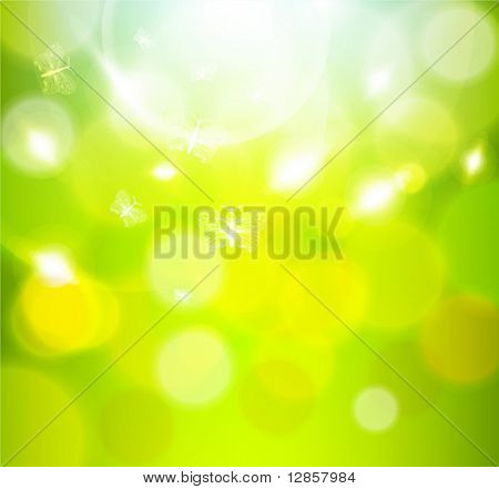 green abstract light background. Vector illustration