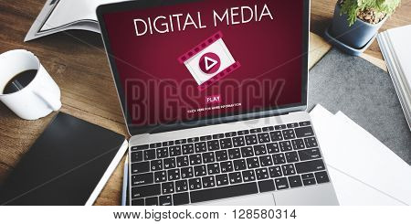 Digital Media Entertainment Technology Connection Concept