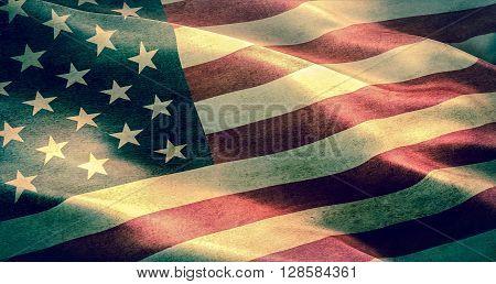 closeup of grunge American USA flag united states of america