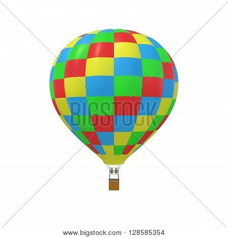 Colorful balloon isolated on white background. 3d illustration