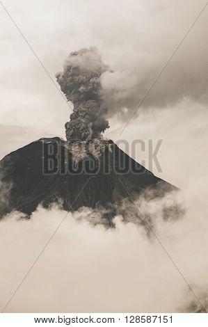 Fumarole At Tungurahua Volcano Crater Ecuador South America