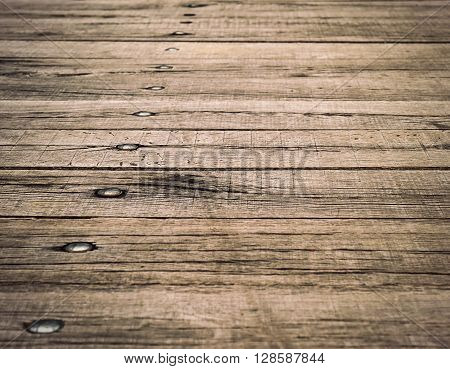 abstract background or texture wood board with rivets
