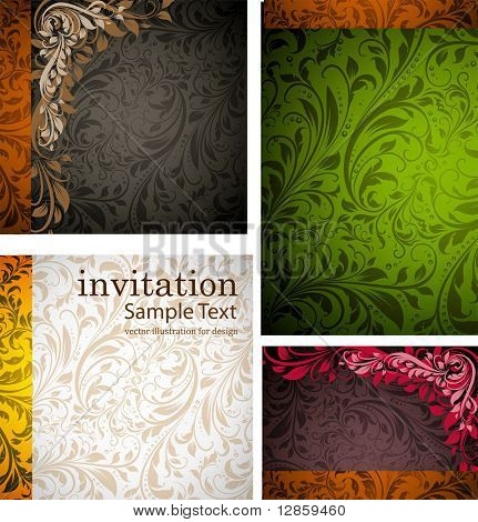 invitation complete card set