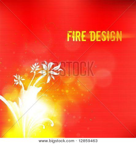 Fiery flower