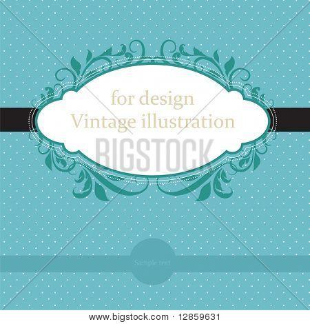 Blue vintage card