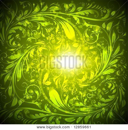 Seamless wallpaper pattern, green