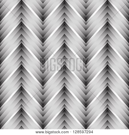 Vector seamless chevron pattern. Zigzag background in black and white. Simple texture in art deco style.