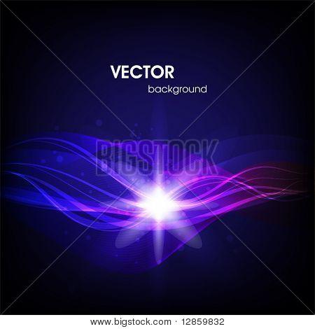 Blue waveform vector background