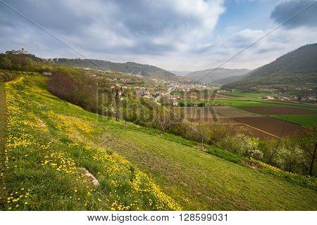 Blooming spring in the wonderful Italian hills.