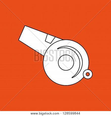 whistle icon design, vector illustration eps10 graphic